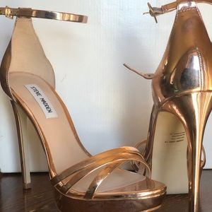 Rose Gold Steve Madden Heels